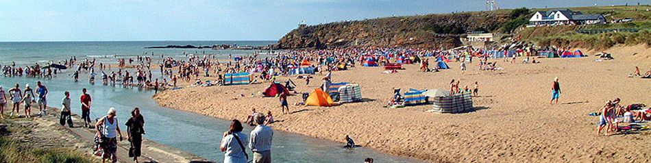 The beach at Bude in North Cornwall